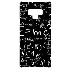 Science Albert Einstein Formula Mathematics Physics Special Relativity Samsung Note 9 Black Uv Print Case  by Sudhe