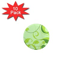 Floral Decoration Flowers Design 1  Mini Magnet (10 Pack)