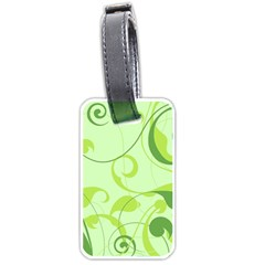 Floral Decoration Flowers Design Luggage Tag (two Sides)