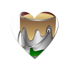 Paint Color Brush Painter Bucket Heart Magnet by Wegoenart