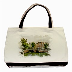 Amsterdam Holland Canal River Basic Tote Bag (two Sides) by Wegoenart