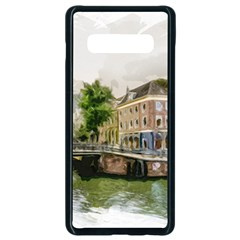 Amsterdam Holland Canal River Samsung Galaxy S10 Plus Seamless Case (black)