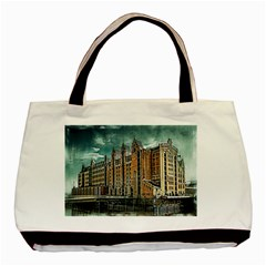 Architecture City Building Travel Basic Tote Bag (two Sides) by Wegoenart
