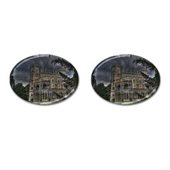 Castle Mansion Architecture House Cufflinks (oval)