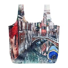Venice Water Laguna Italy Full Print Recycle Bag (l) by Wegoenart