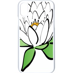 Lotus Flower Water Lily Iphone Xs Seamless Case (white) by Bejoart