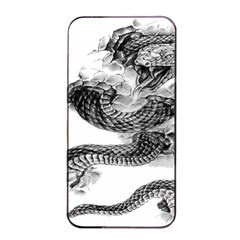 Rattlesnake Tattoo Iphone 4/4s Seamless Case (black) by Bejoart