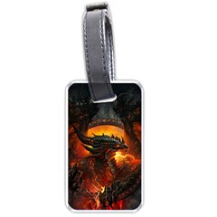 Dragon Fire Fantasy Art Luggage Tag (one Side) by Bejoart