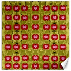 Happy Floral Days In Colors Canvas 12  X 12  by pepitasart