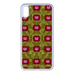 Happy Floral Days In Colors Iphone Xs Max Seamless Case (white) by pepitasart