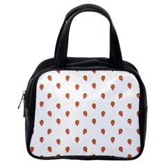 Cartoon Style Strawberry Pattern Classic Handbag (one Side) by dflcprintsclothing