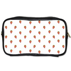 Cartoon Style Strawberry Pattern Toiletries Bag (two Sides) by dflcprintsclothing
