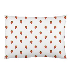 Cartoon Style Strawberry Pattern Pillow Case (two Sides)