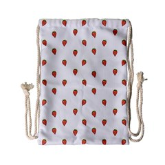 Cartoon Style Strawberry Pattern Drawstring Bag (small)