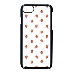 Cartoon Style Strawberry Pattern Iphone 7 Seamless Case (black) by dflcprintsclothing