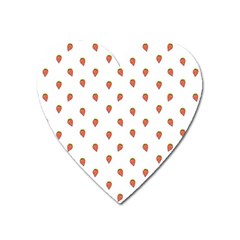 Cartoon Style Strawberry Pattern Heart Magnet by dflcprintsclothing