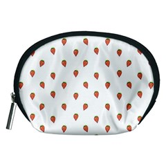 Cartoon Style Strawberry Pattern Accessory Pouch (medium)