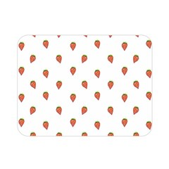 Cartoon Style Strawberry Pattern Double Sided Flano Blanket (mini)