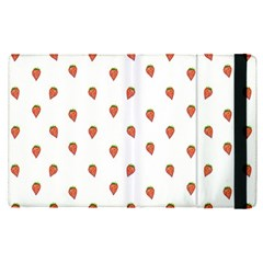 Cartoon Style Strawberry Pattern Apple Ipad Mini 4 Flip Case