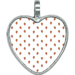 Cartoon Style Strawberry Pattern Heart Necklace
