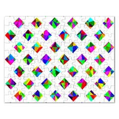 Rainbow Lattice Rectangular Jigsaw Puzzl by Mariart