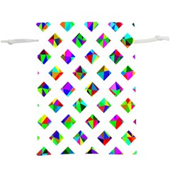 Rainbow Lattice  Lightweight Drawstring Pouch (xl)
