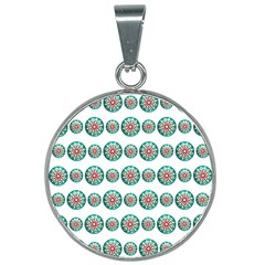 Christmas Decoration Colorful 25mm Round Necklace