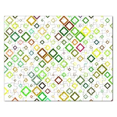 Square Colorful Geometric Rectangular Jigsaw Puzzl by AnjaniArt