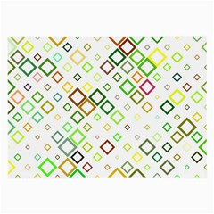 Square Colorful Geometric Large Glasses Cloth (2 Sides) by AnjaniArt