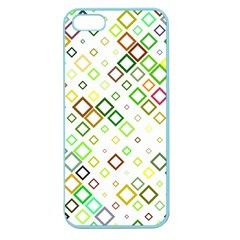 Square Colorful Geometric Apple Seamless Iphone 5 Case (color) by AnjaniArt