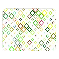 Square Colorful Geometric Double Sided Flano Blanket (large)  by AnjaniArt