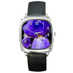 Zappwaits Flower Square Metal Watch