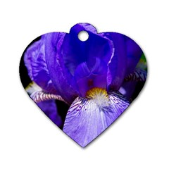 Zappwaits Flower Dog Tag Heart (Two Sides)