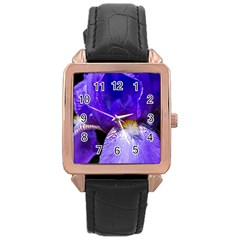 Zappwaits Flower Rose Gold Leather Watch