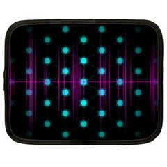 Sound Wave Frequency Netbook Case (large) by HermanTelo