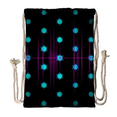 Sound Wave Frequency Drawstring Bag (large)