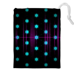 Sound Wave Frequency Drawstring Pouch (xxxl)