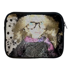 Cat Ears Doll Stained Glass Apple Ipad 2/3/4 Zipper Cases