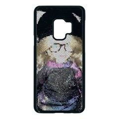 Cat Ears Doll Stained Glass Samsung Galaxy S9 Seamless Case(black)