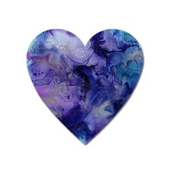 Blue Purple Ink                        Magnet (heart) by LalyLauraFLM