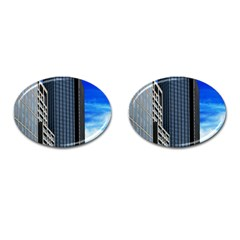 Architecture Frankfurt Houses Cufflinks (oval)