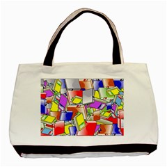 Books Pattern Reading Wallpaper Basic Tote Bag by Wegoenart