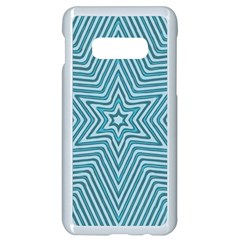Lines Blue Repeating Textile Samsung Galaxy S10e Seamless Case (white)