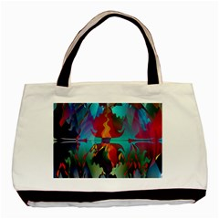 Background Sci Fi Fantasy Colorful Basic Tote Bag by Wegoenart