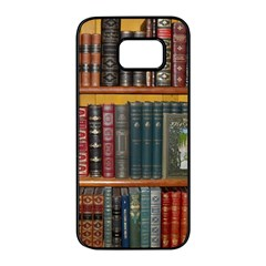 Books Library Bookshelf Bookshop Samsung Galaxy S7 Edge Black Seamless Case