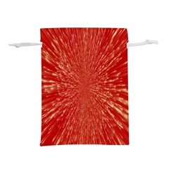 Rays Pattern Center Abstract Red White Lightweight Drawstring Pouch (s)