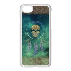 Dreamcatcher With Skull Iphone 8 Seamless Case (white) by FantasyWorld7