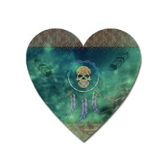Dreamcatcher With Skull Heart Magnet by FantasyWorld7