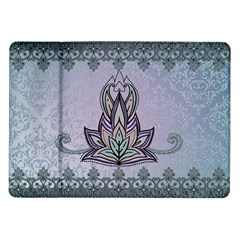 Abstract Decorative Floral Design, Mandala Samsung Galaxy Tab 10 1  P7500 Flip Case by FantasyWorld7