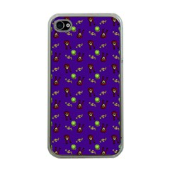 School Girl Braids Dark Blue Iphone 4 Case (clear) by snowwhitegirl